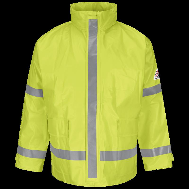 Men's FR Hi-Visibility Rain Jacket
