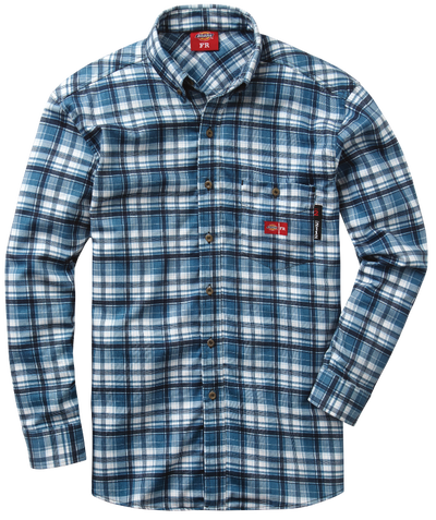 Men's FR Plaid Dress Shirt