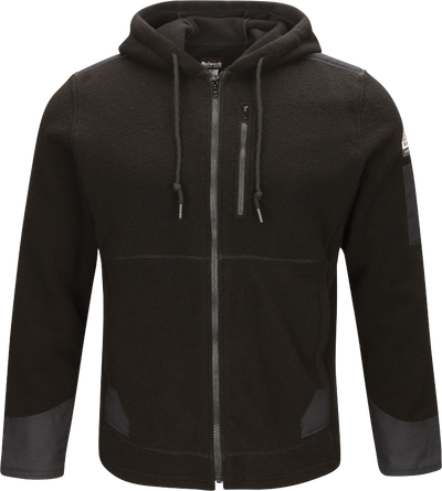 Men's Front Zip Modacrylic Blend Fleece Hoodie