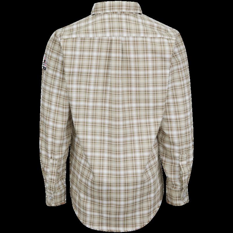 Men's Long Sleeve Plaid Dress Shirt