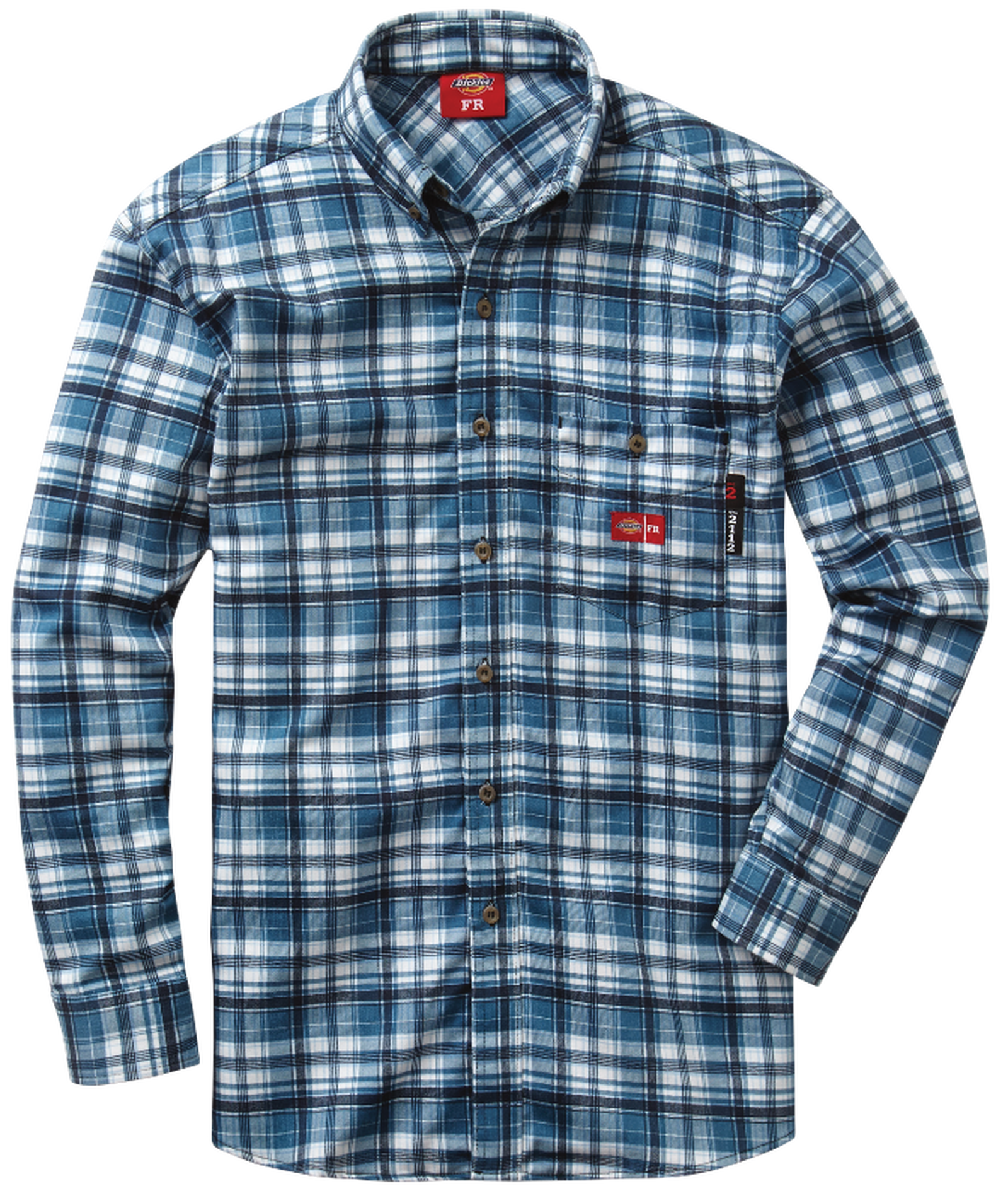 Men's FR Plaid Dress Shirt