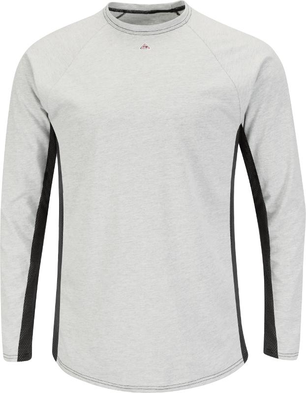 Bulwark Flame Resistant 5.5 oz Cotton//Polyester Long Sleeve Base Layer