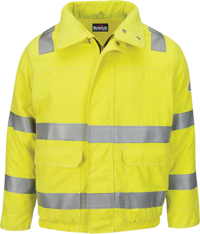 Men's Lightweight FR Hi-Visibility Insulated Bomber Jacket