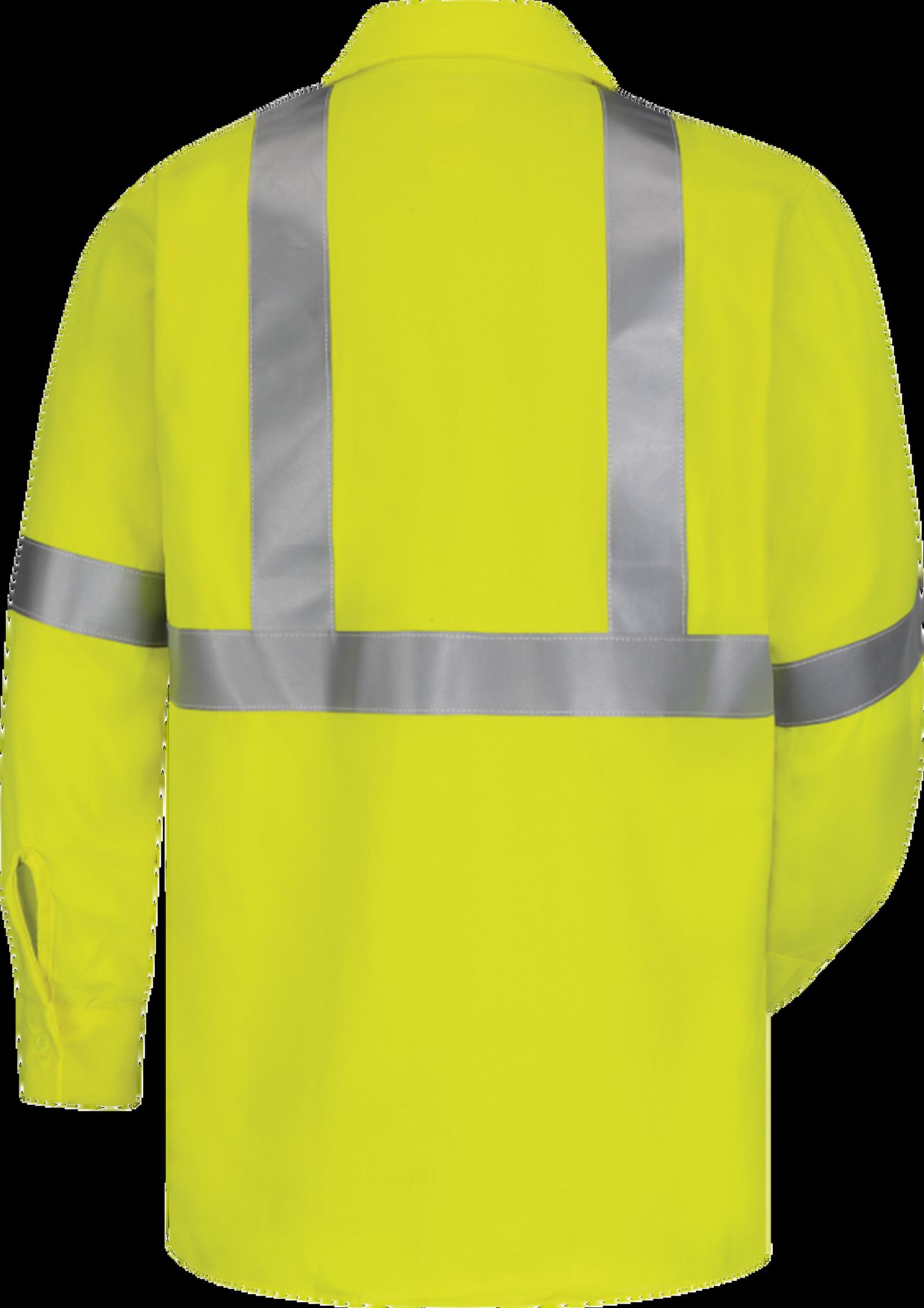 Men's Midweight FR Hi-Visibility Work Shirt