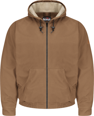 Men's Heavyweight FR Brown Duck Hooded Jacket