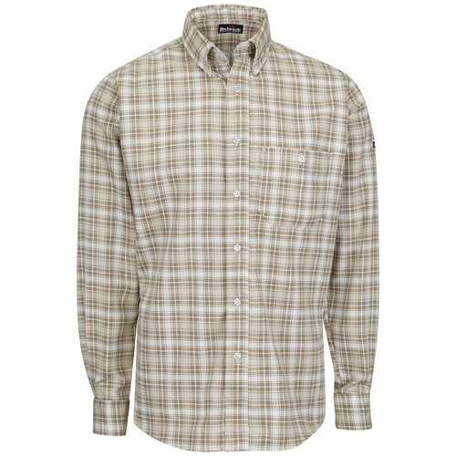 Men's Long Sleeve Plaid Dress Shirt