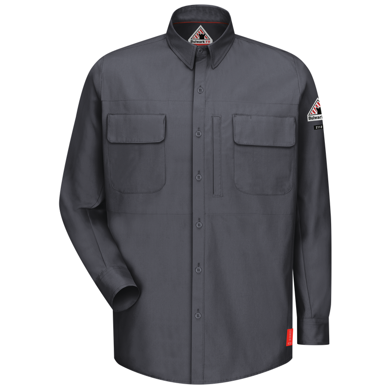 Men's iQ Series® Comfort Woven Long Sleeve Patch Pocket Shirt