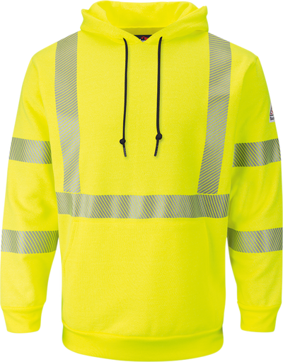 Men's Fleece FR Hi-Visibility Pullover Hooded Sweatshirt