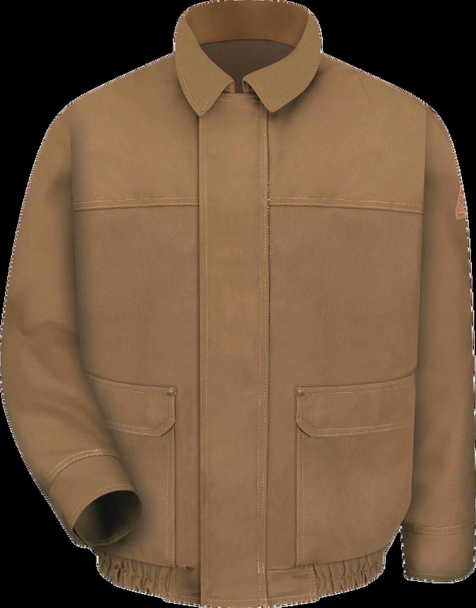 Men's Heavyweight FR Brown Duck Lined Bomber Jacket