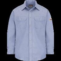 Men's Lightweight FR Chambray Dress Uniform Shirt