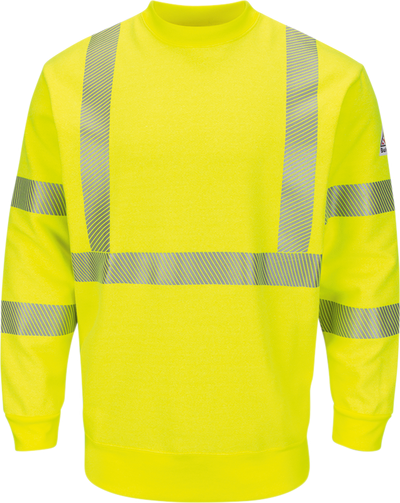 Men's Fleece FR Hi-Visibility Crewneck Sweatshirt