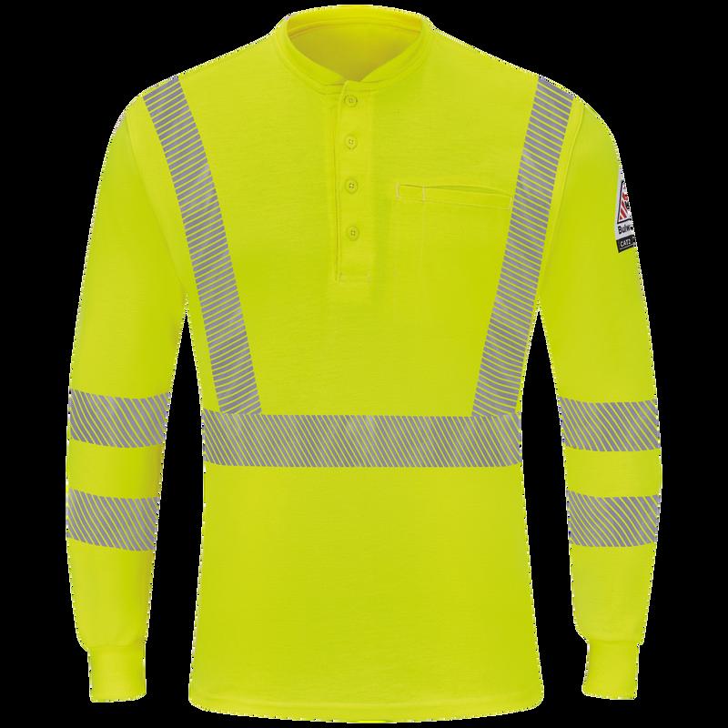 Men's Hi-Visibility Lightweight Long Sleeve Henley