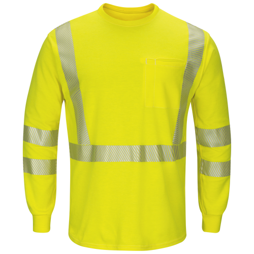 Men's Lightweight FR Hi-Visibility Long Sleeve T-Shirt