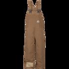Men's Heavyweight FR Insulated Brown Duck  Bib Overall with Knee Zip