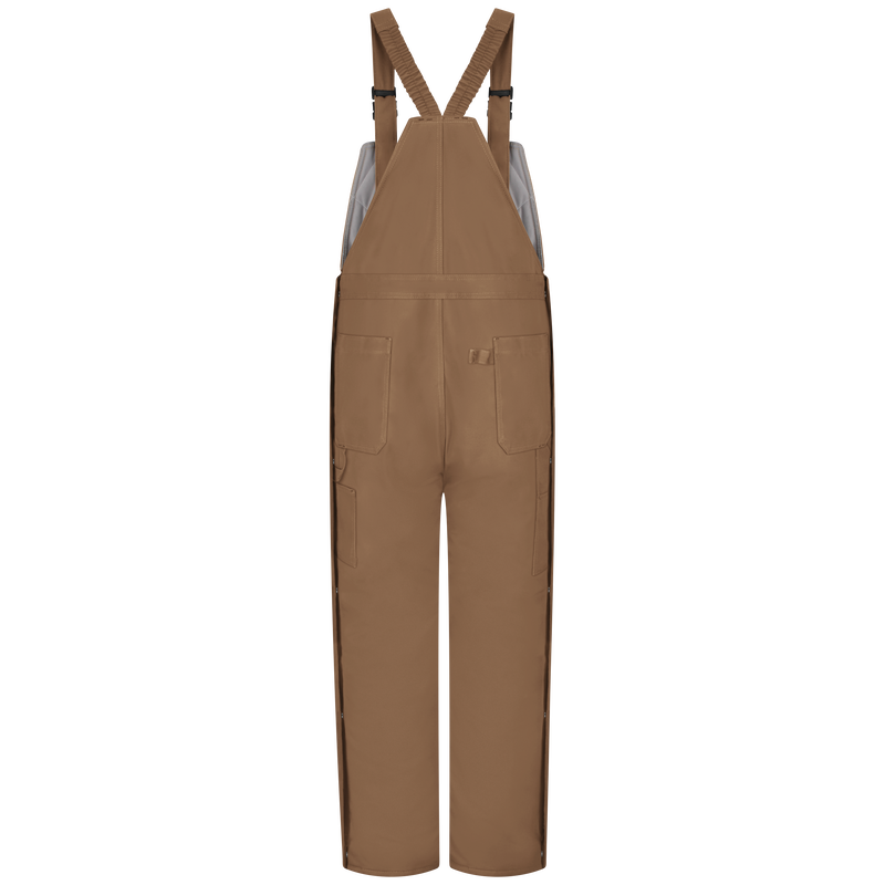 Men's Heavyweight Excel FR® ComforTouch® Deluxe Insulated Brown Duck Bib Overall