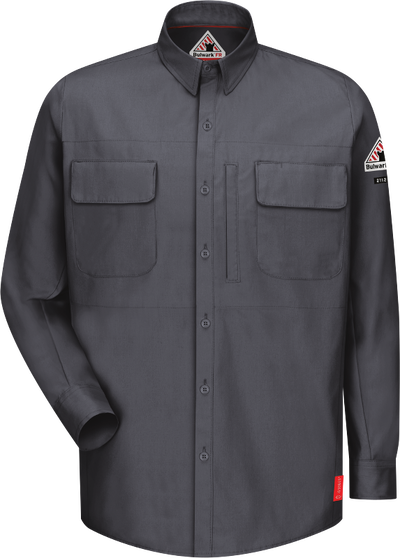 Men's iQ Series® Comfort Woven Long Sleeve Patch Pocket Shirt