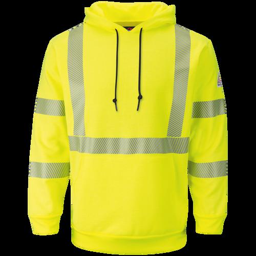 Men's Fleece FR Hi-Visibility Pullover Hooded Sweatshirt