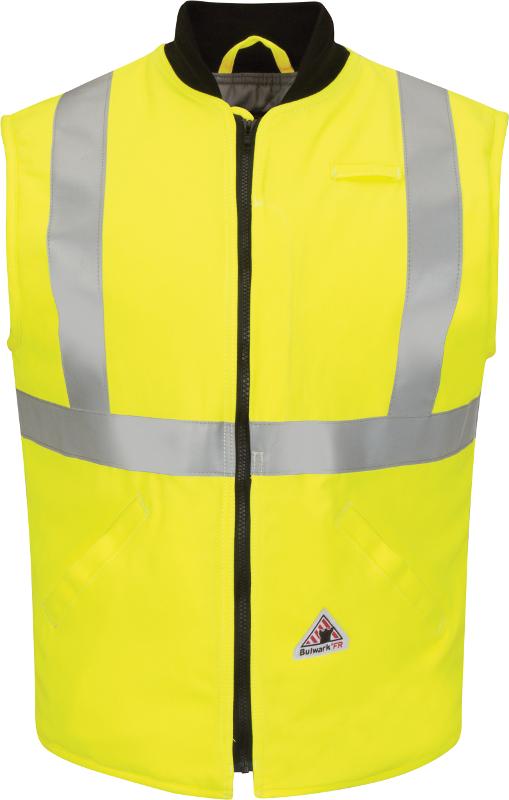 LARGE YELLOW HI VIZ HIGH Visibility Waistcoat Safety Vest Jacket