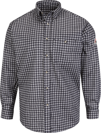 Men's Lightweight Excel FR Plaid Dress Shirt