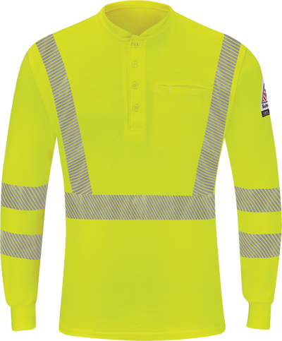 Men's Hi-Visibility Lightweight Long Sleeve Henley