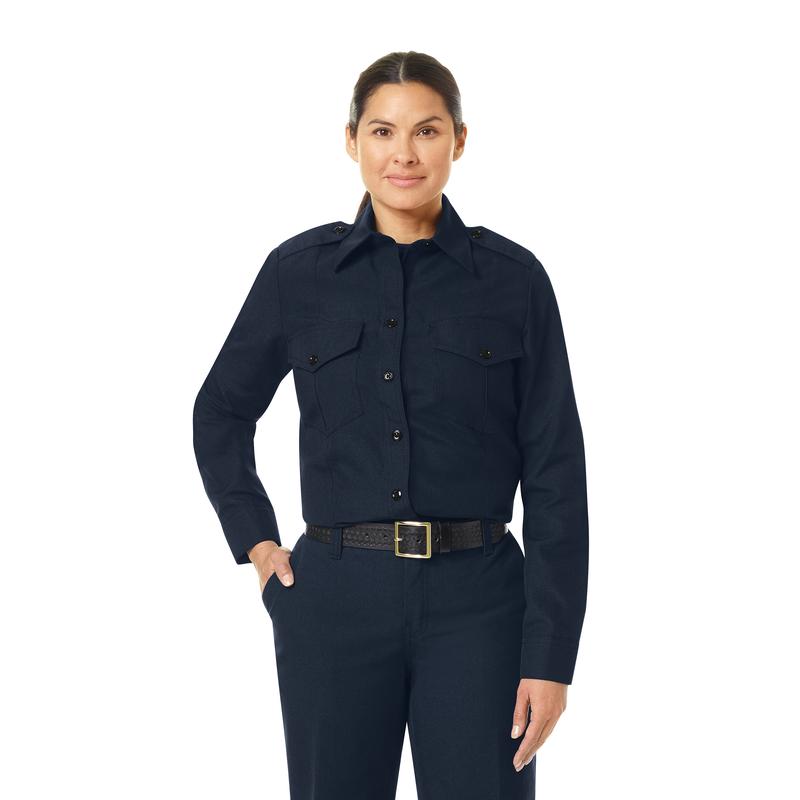 Women's Classic Long Sleeve Fire Chief Shirt