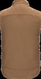 Men's Sherpa Lined Brown Duck Vest