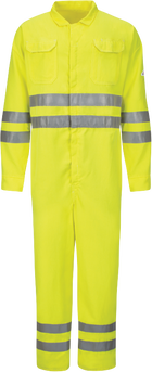 Men's Lightweight FR Hi-Visibility Deluxe Coverall with Reflective Trim