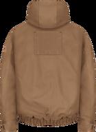 Men's Heavyweight FR Brown Duck Hooded Jacket
