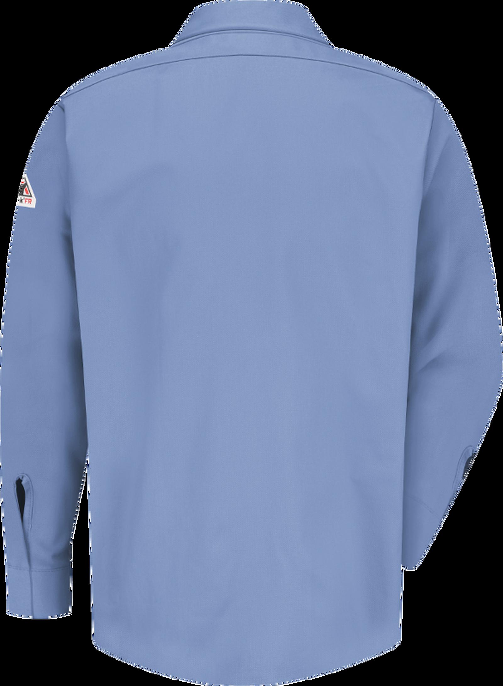 Men's Midweight FR Pocketless Concealed-Gripper Work Shirt