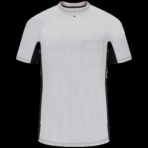 Men's FR Short Sleeve Base Layer with Concealed Chest Pocket