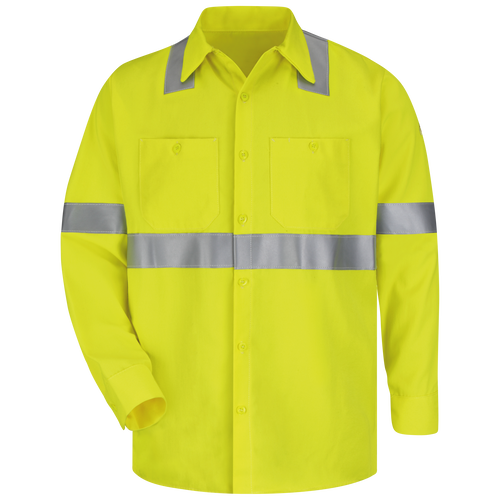 Men's Midweight FR Hi-Visibility Work Shirt
