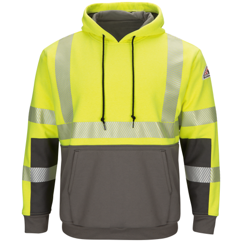 Men's Hi-Visibility Color Block Pullover Fleece Sweatshirt