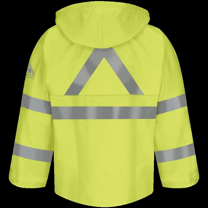 Men's FR Hi-Visibility Rain Jacket with Hood
