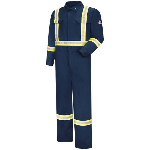 Men's Premium Coverall with Reflective Trim