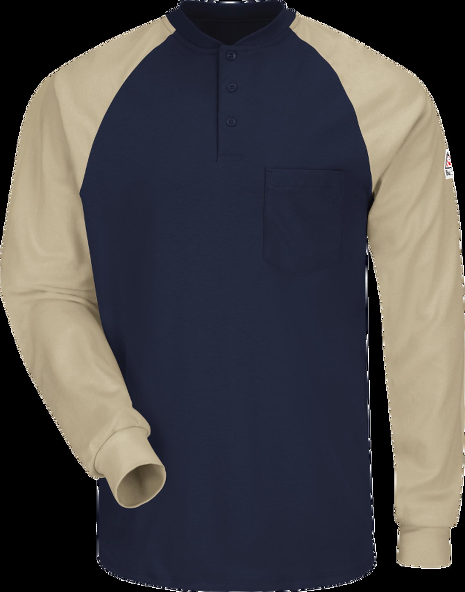 Men's Lightweight FR Colorblock Tagless Henley