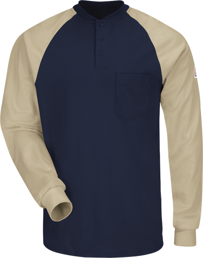 Men's Lightweight FR Colorblock Tagless Henley