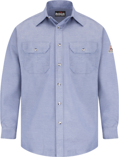 Men's Lightweight FR Chambray Dress Uniform Shirt