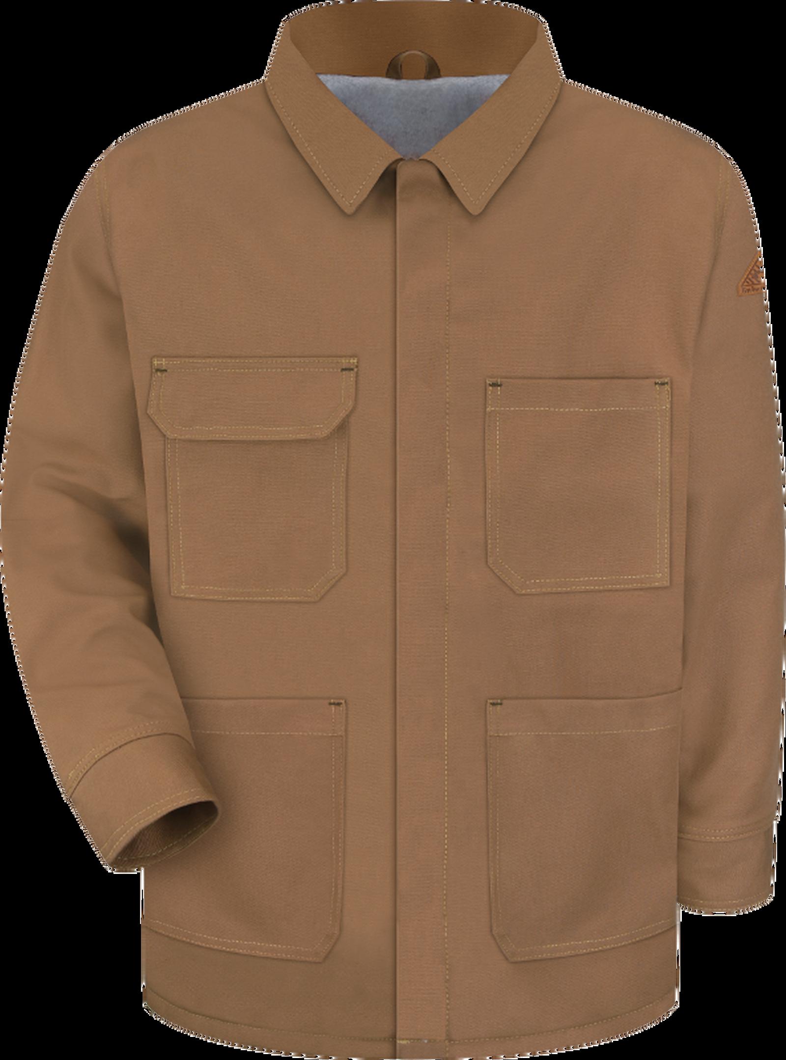 Men's Heavyweight FR Brown Duck Lineman's Coat