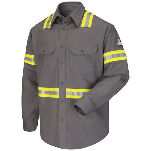 Men's Midweight FR Enhanced Visibility Uniform Shirt