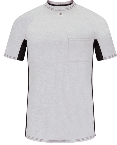 Men's FR Short Sleeve Base Layer with Concealed Chest Pocket