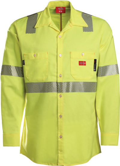 Men's Midweight FR High Visibility Work Shirt