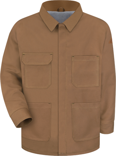 Men's Heavyweight FR Brown Duck Lineman's Coat