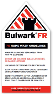 Bulwark FR Home Wash Guidelines